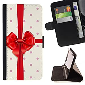 Momo Phone Case / Flip Funda de Cuero Case Cover - Regalo de cumpleaños Polka Dot cinta - HTC One A9