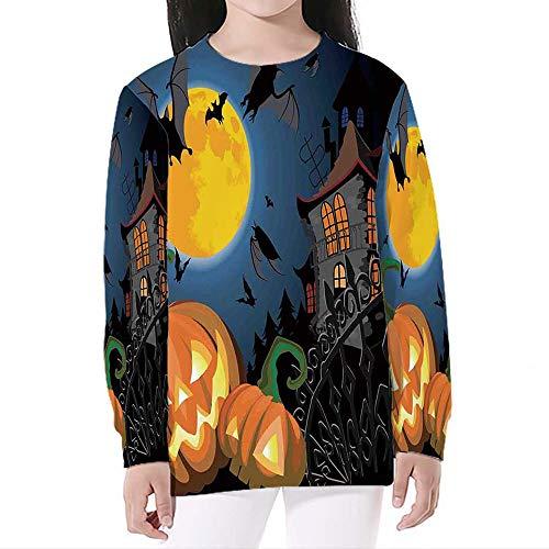 iPrint Teen Boys' Girls' 3D,Halloween Decorations,Print Sweatshirts Pocket Pullover Hoodies,L