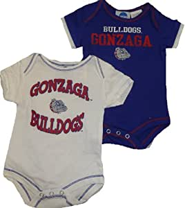 Gonzaga Bulldogs 2pc Creeper Onesie Set 6-9 Month Baby Infant