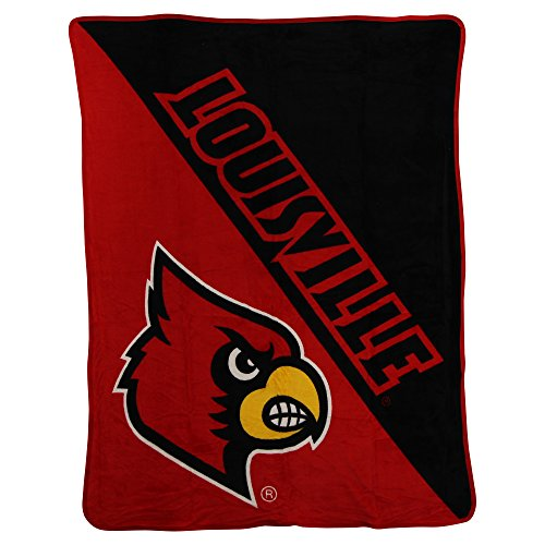 The Northwest Company NCAA Collegiate Half Tone Super Soft Plush Throw Blanket (Louisville Cardinals)