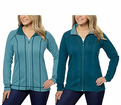 - Kirkland Signature Ladies Reversible Full Zip Jacket (Small, Green)