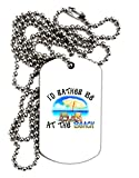 TooLoud I'd Rather Be At The Beach Adult Dog Tag Chain Necklace - 12 Pieces