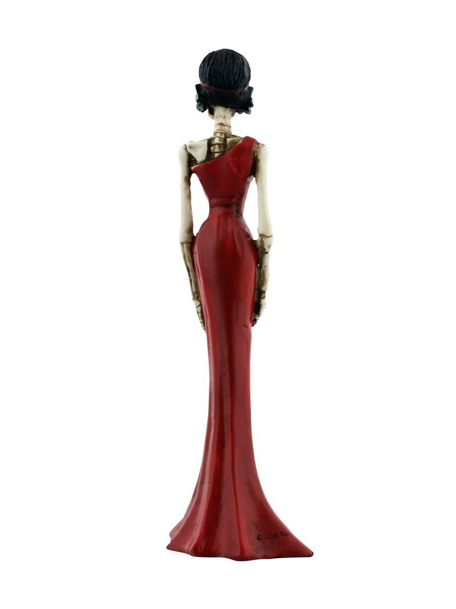 YTC 8 Inch Day of The Dead Lady in A Red Dress Statue Figurine Display