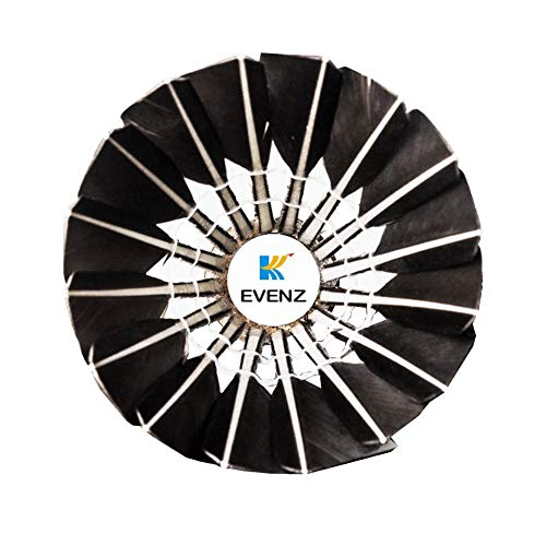 KEVENZ 12-Pack Advanced Goose Feather Badminton Shuttlecocks,Nylon Feather Shuttlecocks High Speed Badminton Birdies Balls with Great Stability and Durability (12-Pack,Black) by KEVENZ (Image #1)