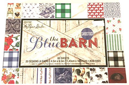 Blue Barn 4.5x6.5 Cardstock Paper Pad, Scrapbooking, Cardmaking, Embellishments, 80 sheets