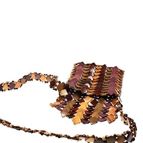 Borsa a mano Schopper signora borsa a mano Borsa a tracolla della cassa in legno hht2