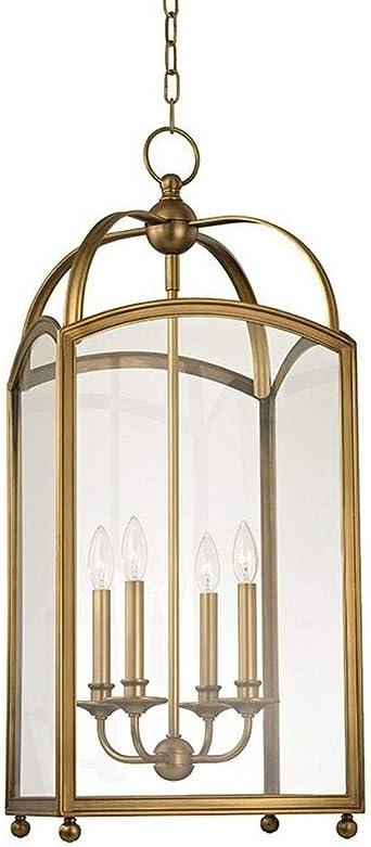 Hudson Valley Lighting 8414-AGB Millbrook - Four Light Pendant, Aged Brass Finish