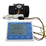 DIGITEN G2'' 2inch Flow Water Sensor Meter+LCD Display Quantitative Control 10-200L/min