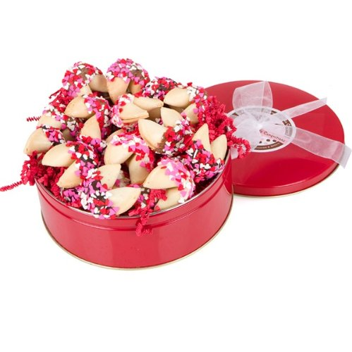 une Cookies Tin - Set of 24 (Valentine Fortune Cookies)