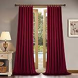 Home Theater Velvet Curtains 84-inch - Silky Soft Velvet Drapes Light Blocking Sound Dampening Panels for Master Bedroom, 52' x 84', Set of 2 Panels