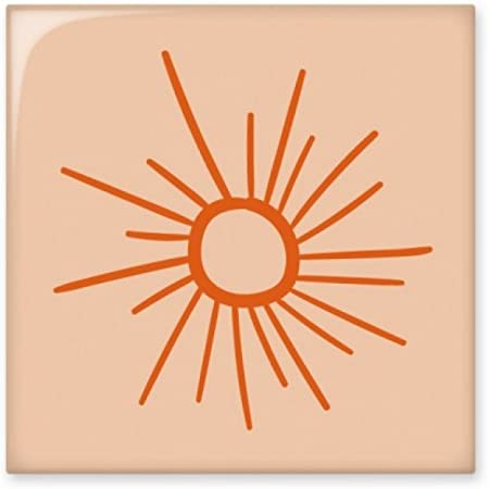 Diythinker Soleil Peinture à La Main Orange Soleil Brillant