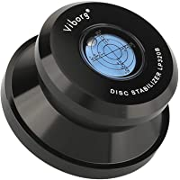 Viborg LP320B Disc Stabilizer HiFi Vinyl Weight Clamp 11.3 Ounce Turntable Bubble Level with Soft Base Pad