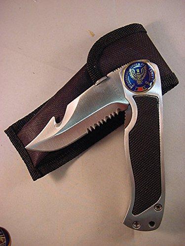 FOE FRATERNAL ORDER OF EAGLES LOGO ON STAINLESS STEEL KNIFE