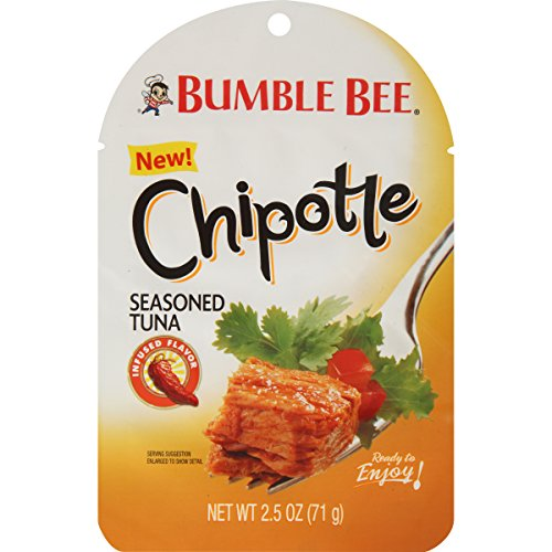 BUMBLE BEE Chipotle Seasoned Tuna Pouch, Spoon Included, 2.5 Ounce (Pack of 12), Tuna Fish, Gluten Free Snacks and Groceries, Keto Snack, High Protein Snacks, Bulk Snacks ()