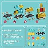 Kidazon - Train Building Block Set for Boys Girls