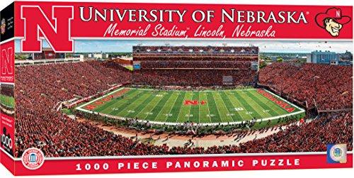 MasterPieces Collegiate Nebraska Cornhuskers 1000 Piece Stadium Panoramic Jigsaw Puzzle ()