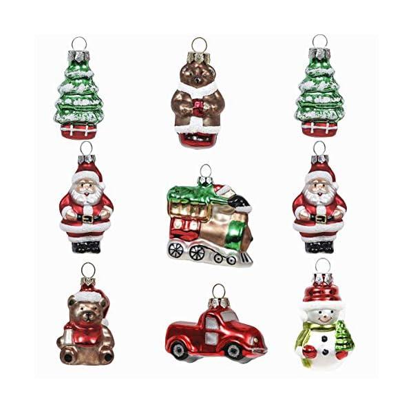 Valery Madelyn Palle di Natale Vetro Addobbi Natalizi Set, 9 Pezzi 5-7cm Classic Collection Red Green And White Palline di Natale Decoration for Addobbi Natalizi per Albero 1 spesavip