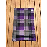 Plaid Dog Crate Pad Purple Cat Mat Puppy Bedding Kennel Medium Pet Bed Fits 24x36 Crate Washable