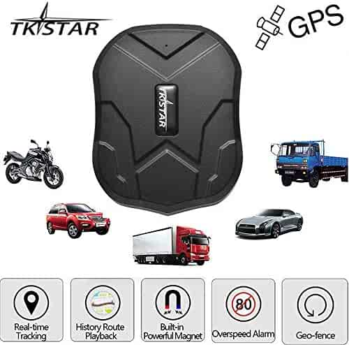 TKSTAR Hidden Vehicles GPS Tracker, Waterproof Real Time Vehicle GPS Tracker Anti Theft Alarm Car Tracking Device Strong Magnet For Motorcycle Trucks Support Android and IOS TK905