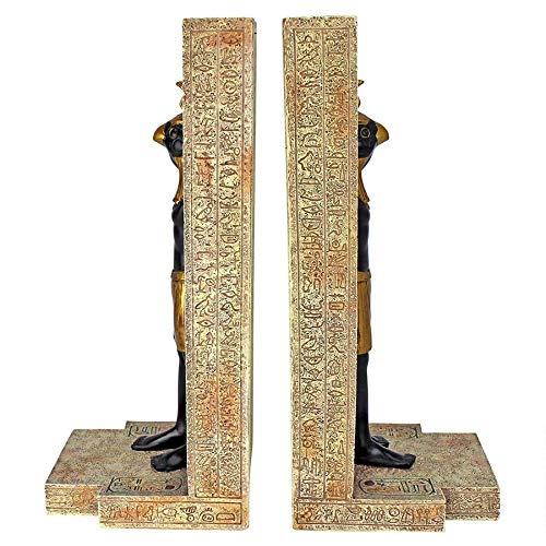 11.5x10x24 cm Design Toscano WU69477 Reggilibri Horus Set da Due