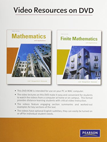 Videos on DVD for Finite Mathematics and Mathematics with Applications