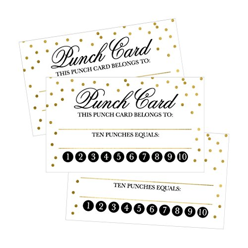 25 Rewards Punch Cards For Business, Kids, Students, Teachers, Classroom, Chores, Reading Incentive Awards For Teaching Reinforcement or Home Education Class Supplies Loyalty Encouragement Work Supply