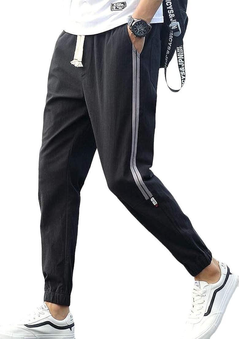 Alion Mens Bottom Casual Regular Fit Sweatpants Elastic Waist Pants