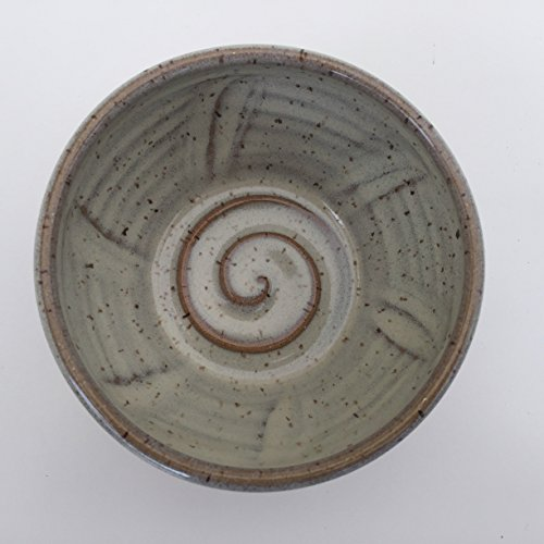 Handmade Pottery Shaving Bowl in Natural Color for Men