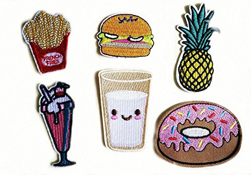 Food Embroidered Patches Clothes Stickers product image