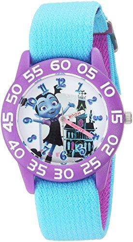 Disney Girl's 'Vampirina' Quartz Plastic and Nylon Casual Watch, Color:Blue (Model: WDS000416)