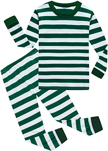 CoralBee Pajamas for Boys Toddler Kids Striped Pants Set Baby Girls Clothes Sleepwear Size 7t -