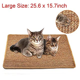 Liyahog Cat Scratcher Mat, Natural Sisal Scratching Pad, Anti-Slip Cat Scratch Rug Sleeping Carpet for Cat Grinding Claws & Protecting Furniture