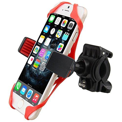 Bike Handlebars Phone Mount, ZeroElec Universal SmartPhone Handlebar Mount GPS Holder Cradle for Motorcycle Bicycle, Adjustable to Fit