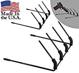 Hold Up Displays Pistol Hanger - Handgun Storage Holder for SIG Glock Sig Remington and Springfield Armory - Hangs 4 revolvers handguns and pistols (2 Pack)- MADE IN USA …