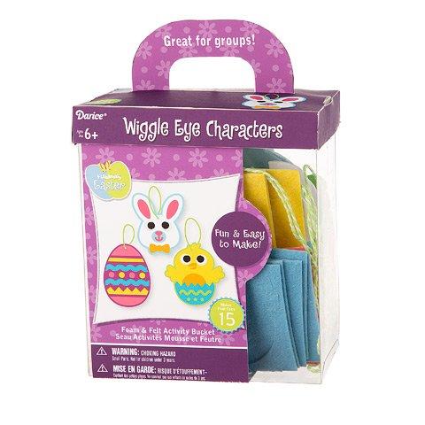 Darice Foam Easter Kit: Wiggle Eye Characters, Makes 15 ()