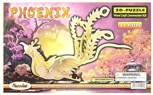 3D Natural Natural Natural Phoenix Wood Puzzle by Puzzled d63564