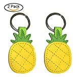 2 PCS Cute Leather Pineapple Keychain Bag Pendant, Charm Keychain Car Accessories for Women Girls