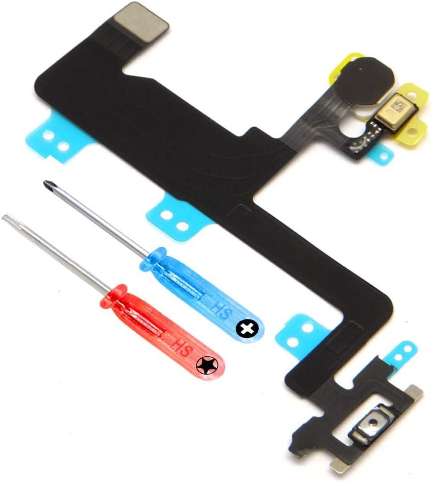 MMOBIEL Power Botón Control Volúmen Compatible con iPhone 6 Series Repuesto ON/Off Silencio/Mudo Control con Herramienta