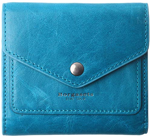 Small Leather Wallet for Women, RFID Blocking Women's Credit Card Holder Mini Bifold Pocket Purse (Limited Edition-Ice peacock blue)