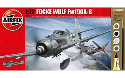 Airfix Focke Wulf Fw190A-8 1:72 Military Plastic Model Gift Set