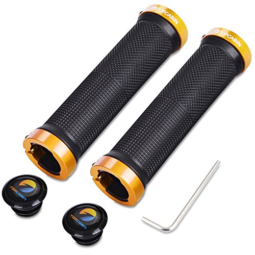 TOPCABIN Bicycle Grips,Double Lock on Locking Bicycle Handlebar Grips Rubber Comfortable Bike Grips for Bicycle Mountain BMX (Gold) by TOPCABIN (Image #7)