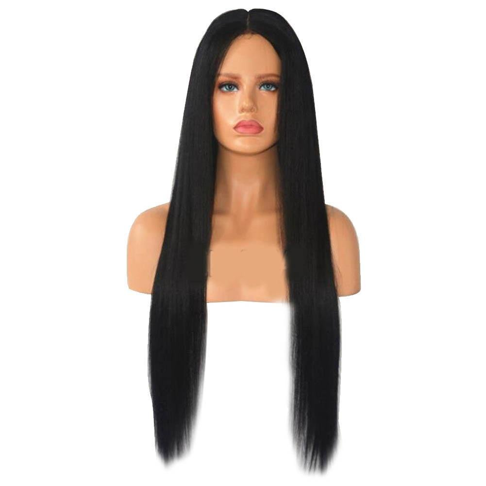 2018 New Women Wigs Front Lace Straight with Human Hair Baby Hair