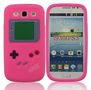 LETOiNG-93YXJ#12 Gameboy Classic Retro Smooth Silicone Soft Rubber Gel Case Cover Skin-Hot Pink