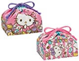 Sanrio Hello Kitty Design Reusable 2 Lunch Bags a Pack (size: W11.5''x H6.5''x D4.75'')