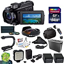 Sony 96GB HDR-PJ790 HD Handycam Camcorder / Projector with Special Edition All Sport Accessory Package Includes - 64GB High Speed Error Free SDHC Memory Card + 52MM Pro 3 Piece Filter Kit (UV, CPL, FLD) + 0.3X High Definition II Extreme Ultra Fisheye Lens + (2) Sony FV70 Extended Life Replacement Batteries + Rapid AC/DC Battery Charger + Opteka X-GRIP Action Stabilizing Handle + Opteka HG-1 Stabilizing Handgrip + Ultra High Power 36 Pin LED Video Light + Directional Mini-Shotgun Microphone +