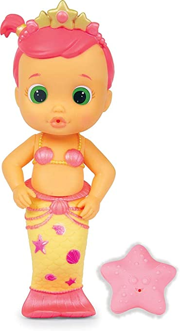 IMC Toys Bloopies Mermaids Amici del Bagnetto Sirenetta Luna, Colore Rosa, 99647IM