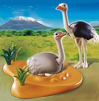 Abenteuer Playmobil 4831 Straussenpaar mit Nest