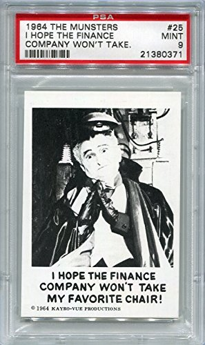 1964 The Munsters - I Hope The Finance Company Won't Take My Favorite Chair! #25 PSA 9 MINT (Graded Non-Sports Cards)