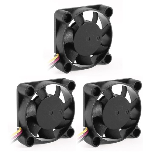 uxcell 3 Pcs 40mmx10mm 3P 7 Cutters Computer Chipset Cooling Fan DC 12V primary