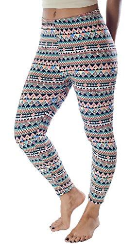 Hey Collection Women's Skinny Soft Light Fleece Leggings 10 Prints Available